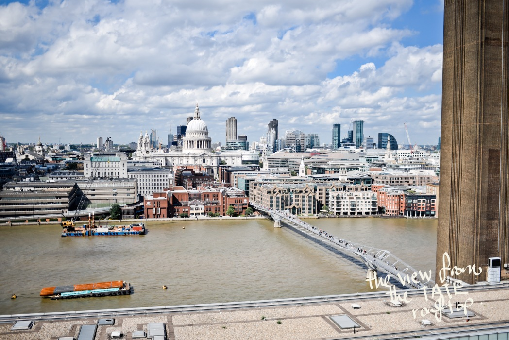 Η θέα από το roof top του Tate στο Λονδίνο