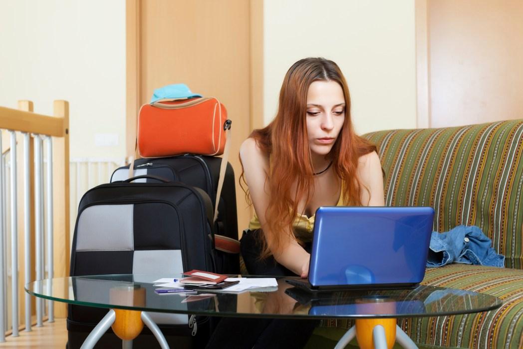 Προαγοράστε αποσκευές μέσω διαδικτύου