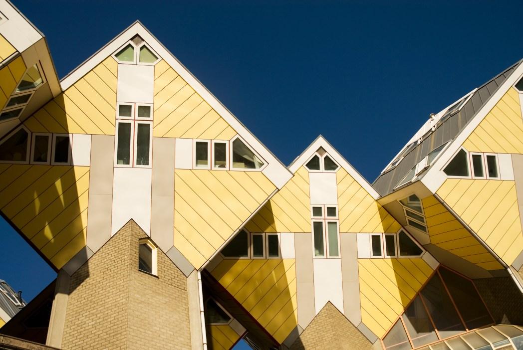 Οι κίτρινες κυβικές κατοικίες του Ρότερνταμ