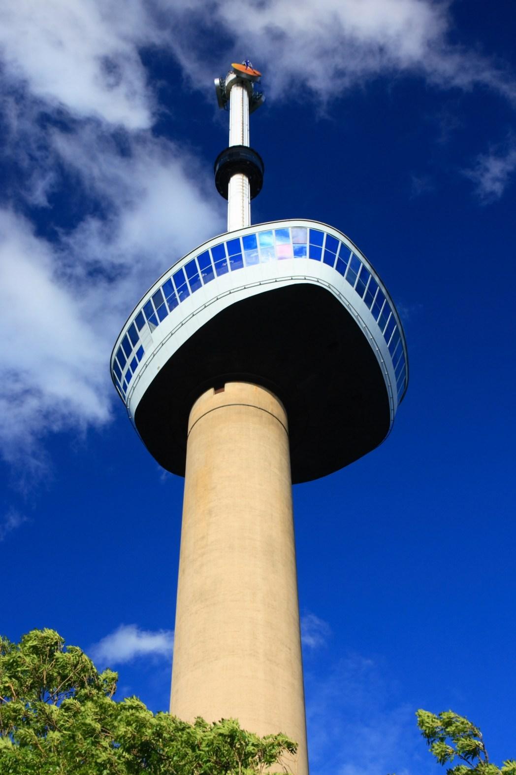 Στην κορυφή του πύργου Euromast