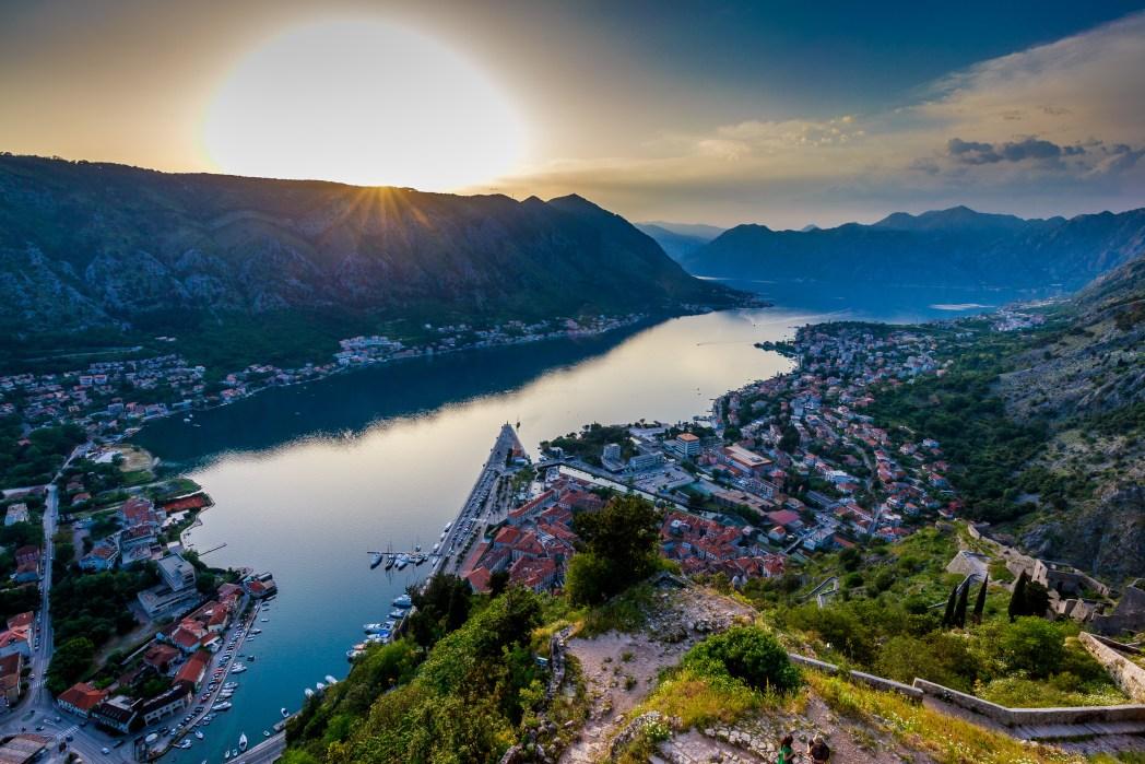 Ο κόλπος του Κότορ στο Μαυροβούνιο