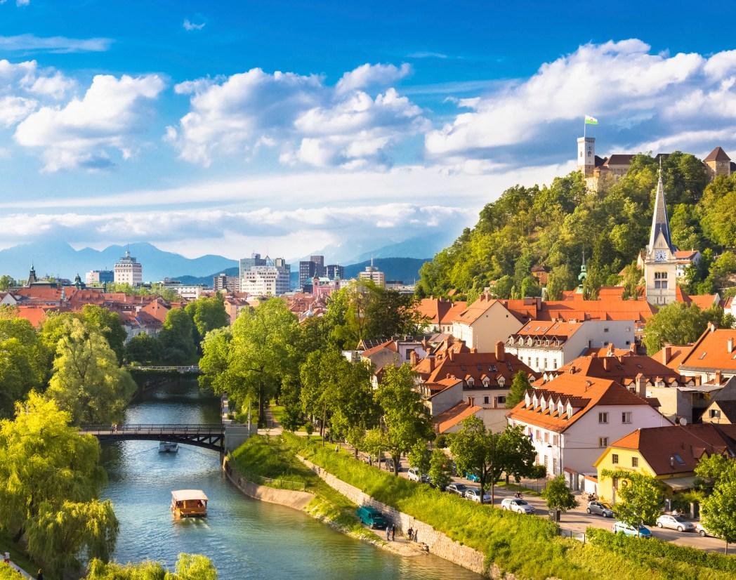 Η πόλη Λιουμπλιάνα στη Σλοβενία
