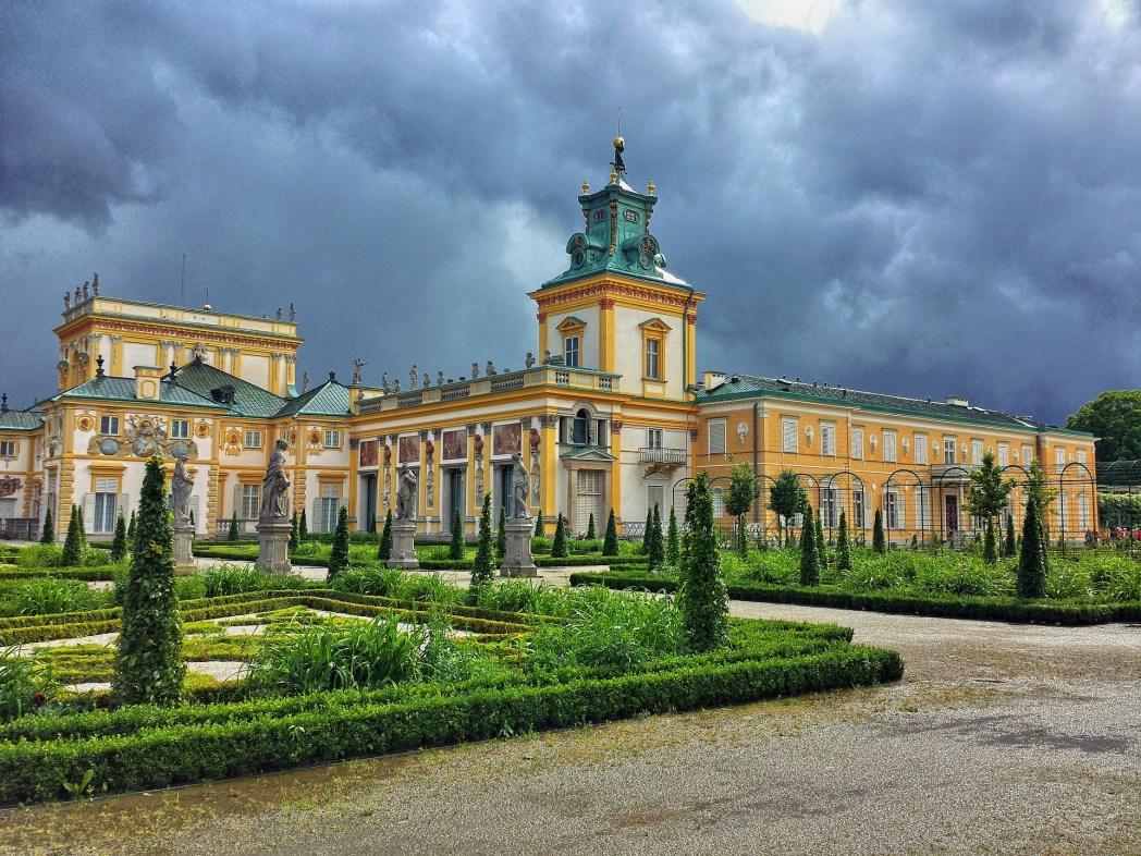 Άποψη του παλατιού Wilanów