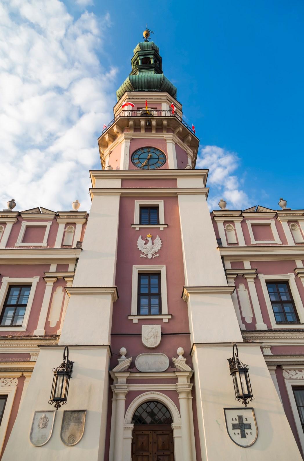 Το δημαρχείο του Ζαμόσκ στην Πολωνία